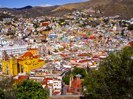 nestled: Colonial Guanajuato town nestled in the hills