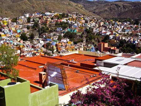 New solar technology used in Old World Guanajuato Mexico photo