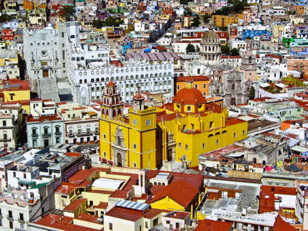 Colorful Guanajuato Mexico from above