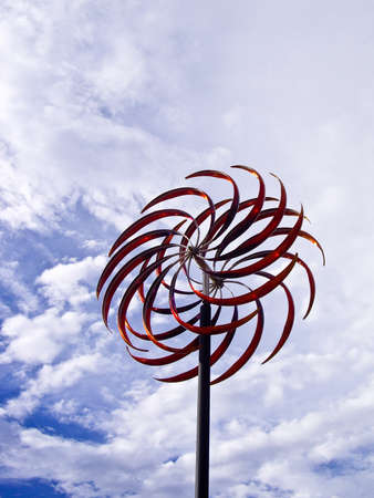 whirlwind: Whirlwind art against cloudy sky
