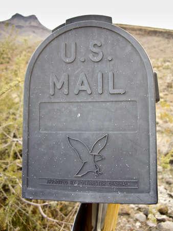 Mail Box in rural desert of Arizona USA Editorial