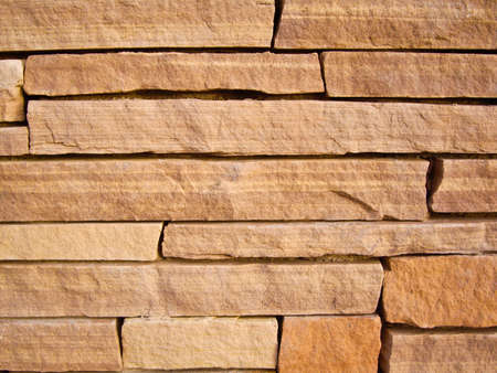 Wall of sheets of sandstone