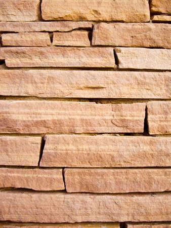 Blocks of sandstone of modern wall