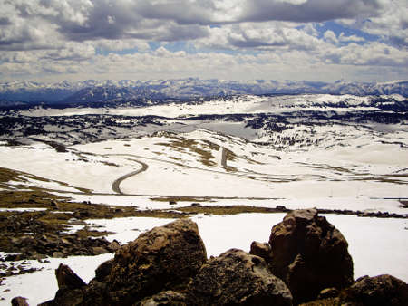 Montana s Beartooth Highway in Winter glory