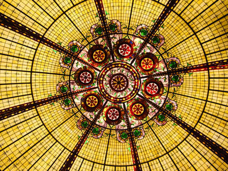 glass ceiling: Multi colored stained glass ceiling