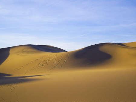 Fluid sand dunes of Death Valley USA Stock Photo