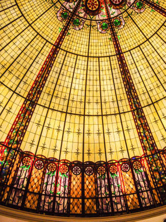 glass ceiling: Colorful glass ceiling