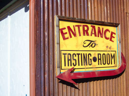 Tasting Room sign in California wine country