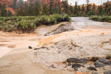 Desert flash flood at Red Canyon Utah USA Stock fotó - 33541152