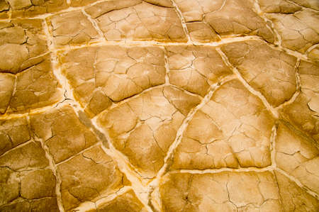 extreme heat: Earth bakes and cracks in extreme heat of Death Valley National Park Stock Photo