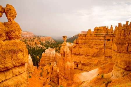 Storm clears over Bryce Canyon National Park, Utah USA