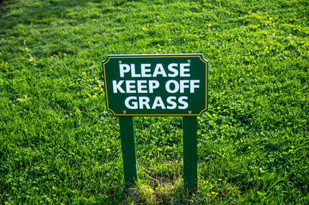 Warning sign to Keep Off Grass Stock fotó