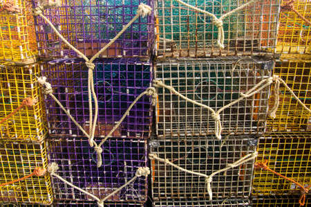 Lobster pots in Maine USA