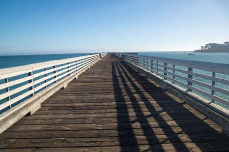 California coastal pier leads to horizon Stock fotó