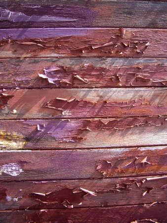 Peeling paint on old wood planks Stock fotó