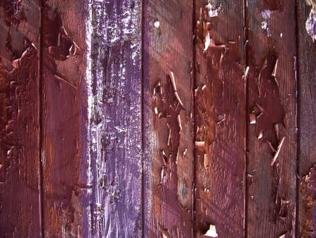 Flaking paint on old wood