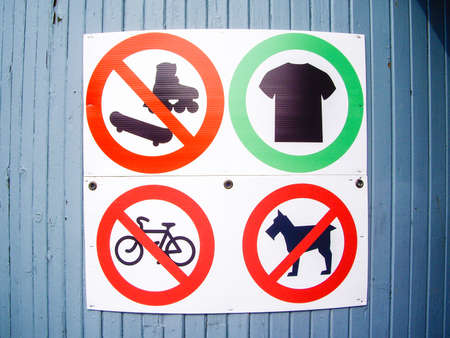 Sign shows what is prohibited
