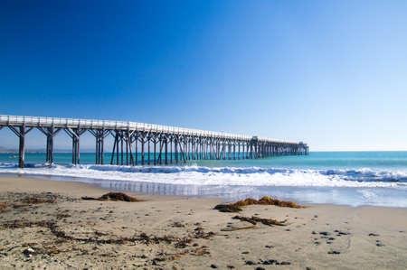 Long wooden pier in California
