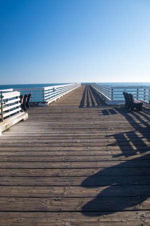 Long pier on California coast in Summer