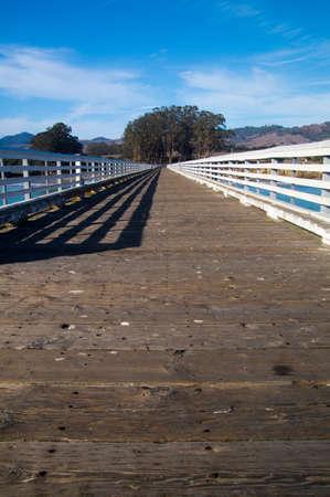 Pier on California coastline Stock fotó