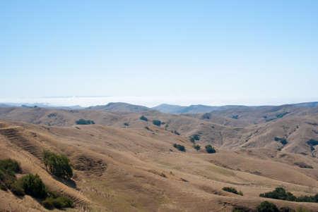 california coast: Fog over California coast during drought Stock Photo