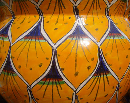 Mexican colorful pottery Stock Photo
