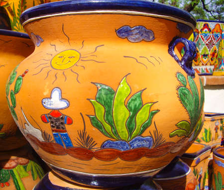 Mexican colorful pots