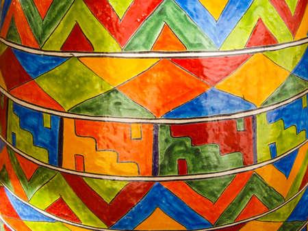Colorful talavera pottery