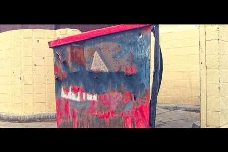 Trash bin as a work of art Stock fotó
