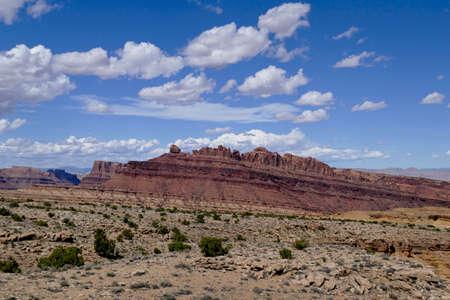 Tilted sandstone mountain desert of New Mexico
