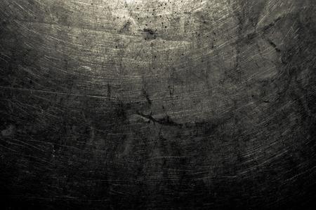 abstracte gecorrodeerd zwarte wallpaper grunge achtergrond ijzer artistieke muur roestige peeling verf. Stockfoto