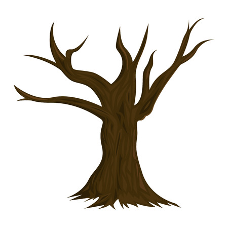 Illustration of Dead Tree isolated on white background