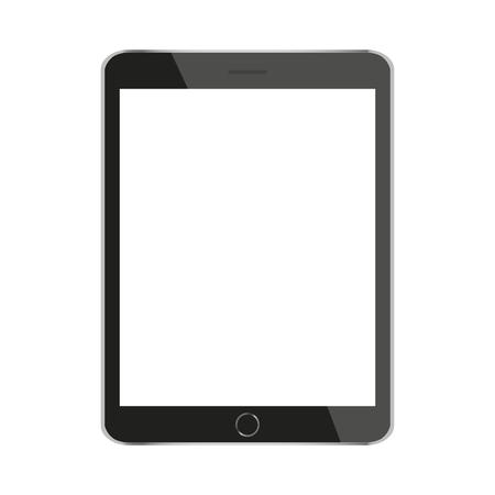 maquette jusqu & # 39 ; à la tablette noire isolé sur blanc vecteur de conception