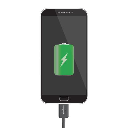 smartphone battery charge design. Vector illustration