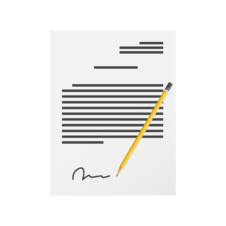 Sign a document vector icon