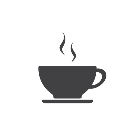Coffee cup icon isolated on white. Иллюстрация