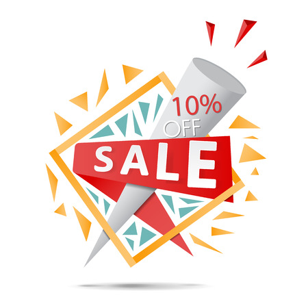 Super Sale poster, banner. Big sale, clearance. Vector illustration.