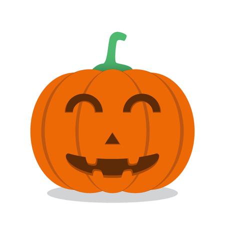 Halloween pumpkin. Vector Illustration.