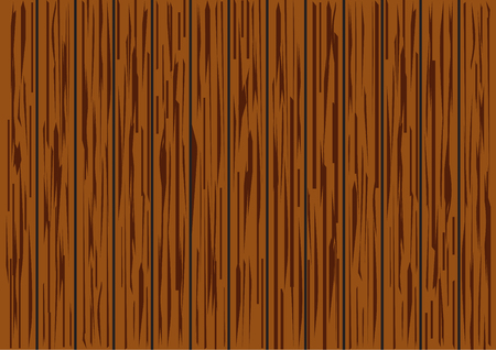 Brown wood plank texture background vector illustration. Illustration