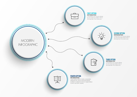 Abstract elements of graph infographic template with label, integrated circles. Business concept with 4 options. For content, diagram, flowchart, steps, parts, timeline infographics, workflow layout,