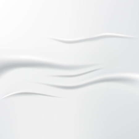 Beautiful White Silk. Drapery Textile Background, Vector Illustration