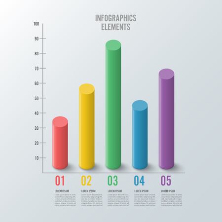 Infographic design template can be used for workflow layout, diagram, number options, web design. Infographic business concept with options, parts, steps or processes. Abstract background.