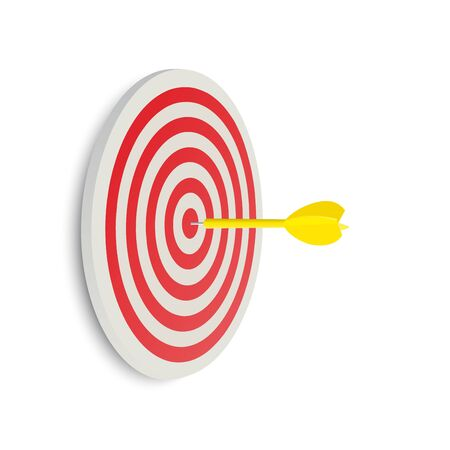Darts target. Success Business Concept. Creative idea 3d illustration isolated on white background