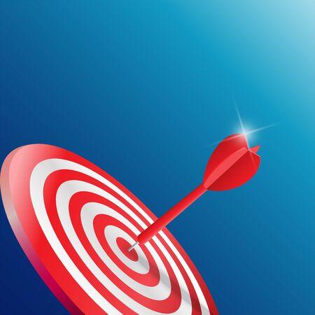 Darts target. Success Business Concept. Creative idea 3d vector illustration.