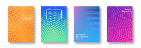Minimal covers design. Colorful halftone gradients. Background geometric patterns. Vector template brochures, flyers, presentations, leaflet, magazine a4 size