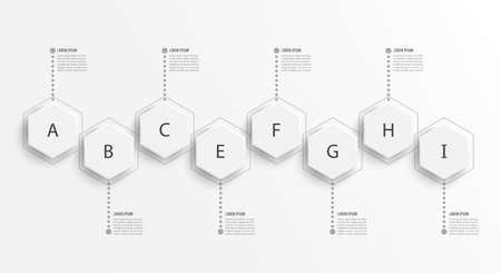 Infographic design template and marketing icons. Template for diagram, graph, presentation and round chart. Business concept with 8 options, parts, steps or processes. Data visualization.