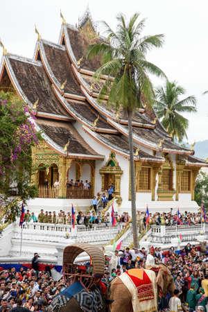 the world heritage: LUANGPRABANG, LAOS- DEC 9: Celebration 20th anniversary of Luang-Prabang World Heritage Site on December 9, 2015 in LuangPrabang, Laos