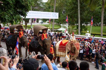 world heritage site: LUANGPRABANG, LAOS- DEC 9: Celebration 20th anniversary of Luang-Prabang World Heritage Site on December 9, 2015 in LuangPrabang, Laos