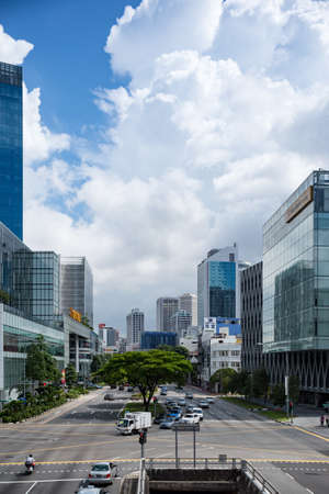 sg: SINGAPORE- JAN 24: City life after New Year in 2016 on January 24, 2016 in Singapore
