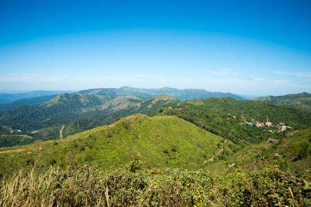 breezy: Trail route in scenic destination in Kanchanaburi, Thailand Stock Photo
